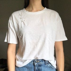 White Piercing T-Shirt